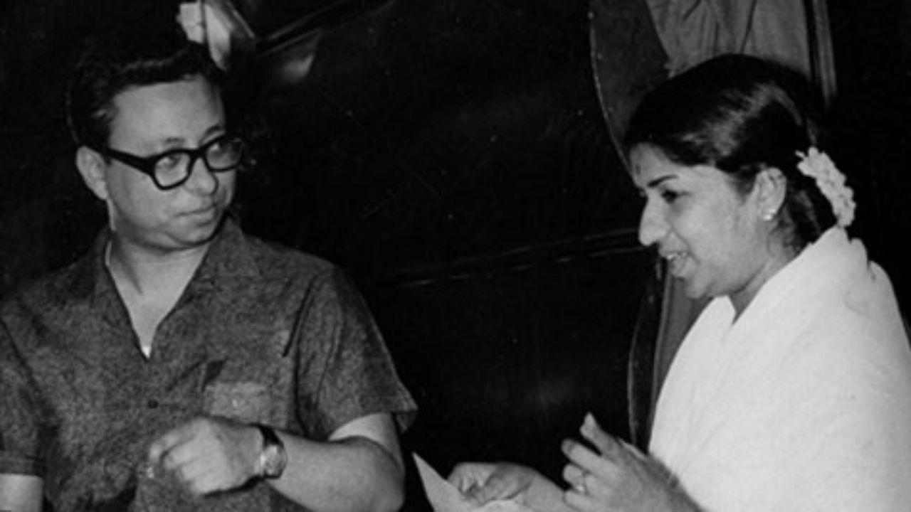 R D Burman with Lata Mangeshkar