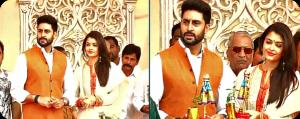 Abhishek Bachchan & Aishwarya Rai Bachchan celebrating Gudi Padwa