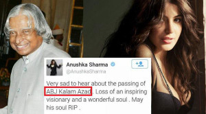 Anushka Sharma clarifies on 'APJ Abdul Kalam' controversial tweet