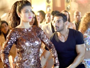 John Abraham and Shruti Haasan shooting a special song for welcome back