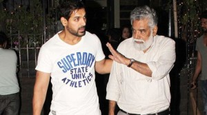 What does John Abraham's father wish for?