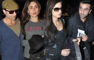 Ranbir Kapoor and Katrina Kaif partying at Saif - Kareena residence