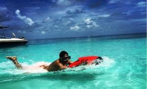 Varun Dhawan perfects Wake Boarding in Maldives