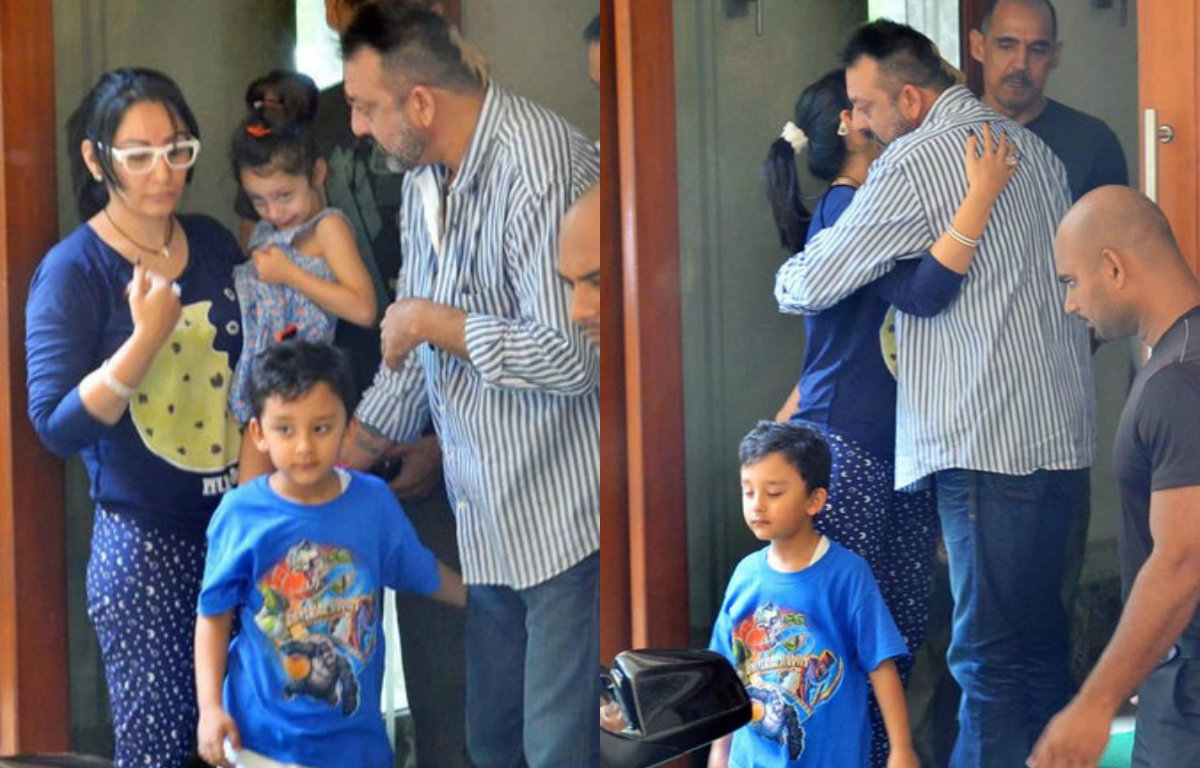 In Pictures - Sanjay Dutt's parole ends, bids an emotional farewell to family