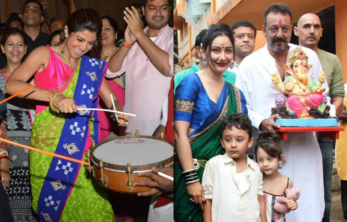 Shilpa Shetty & Sanjay Dutt's farewell to Lord Ganesha