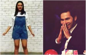 Check Out Sonakshi Sinha shaking a leg for Varun Dhawan