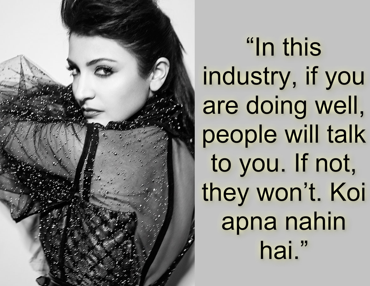 Anushka Sharma – Statements