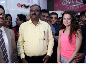 Ameesha Patel at the launch of The Swiss Gallery & Swiss Laundry