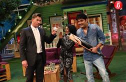 Brett Lee, Tannishtha Chatterjee and Kapil Sharma