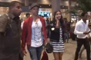 Spotted: Hrithik Roshan & Pooja Hegde returning from Ahmedabad