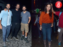 Farhan Akhtar, Arjun Rampal and Shraddha Kapoor at 'Rock On 2' concert rehearsals