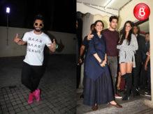 Ranveer Singh, Sidharth Malhotra and Katrina Kaif at 'Baar Baar Dekho' special screening