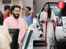 Riteish Deshmukh and Karisma Kapoor at Salman Khan's residence for Ganesh Chaturthi Celebrations