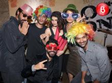 Farhan Akhtar, Arjun Rampal, Shraddha Kapoor, Prachi Desai, Purab Kohli and Shashank Arora at 'Rock On!! 2' teaser launch event