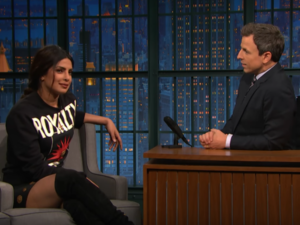 Priyanka Chopra opens up on her US accent and does slo-mo Baywatch run on Seth Meyers' show