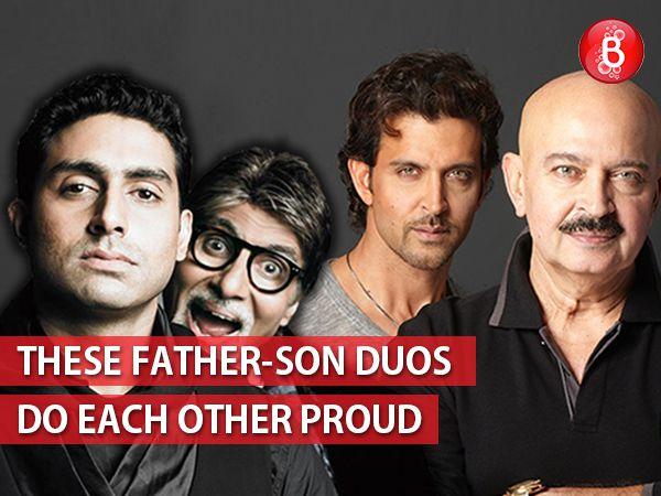 Amitabh Bachchan, Abhishek Bachchan, Rakesh Roshan & Hrithik Roshan