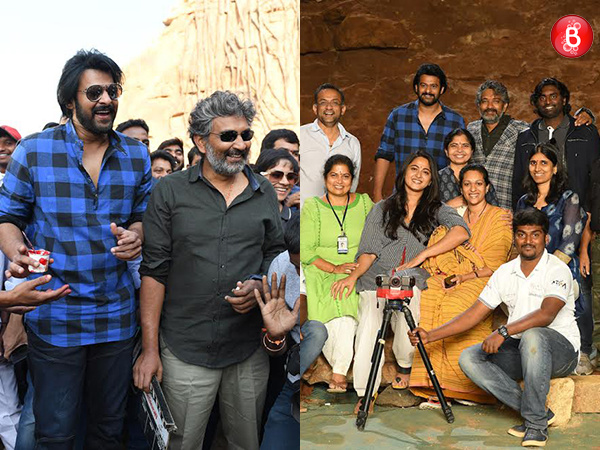 Prabhas, Anushka Shetty, SS Rajamouli and team on sets of 'Baahubali 2'