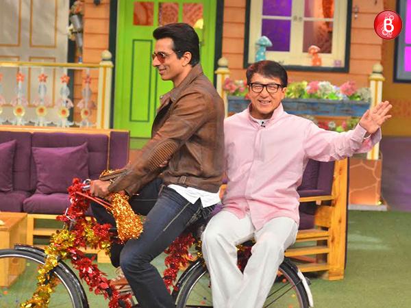 Jackie Chan and Sonu Sood on Kapil Sharma's show