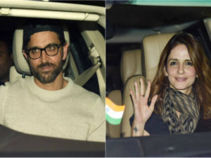 Spotted: Hrithik Roshan And Sussanne Khan at 'Jolly LL.B 2' screening