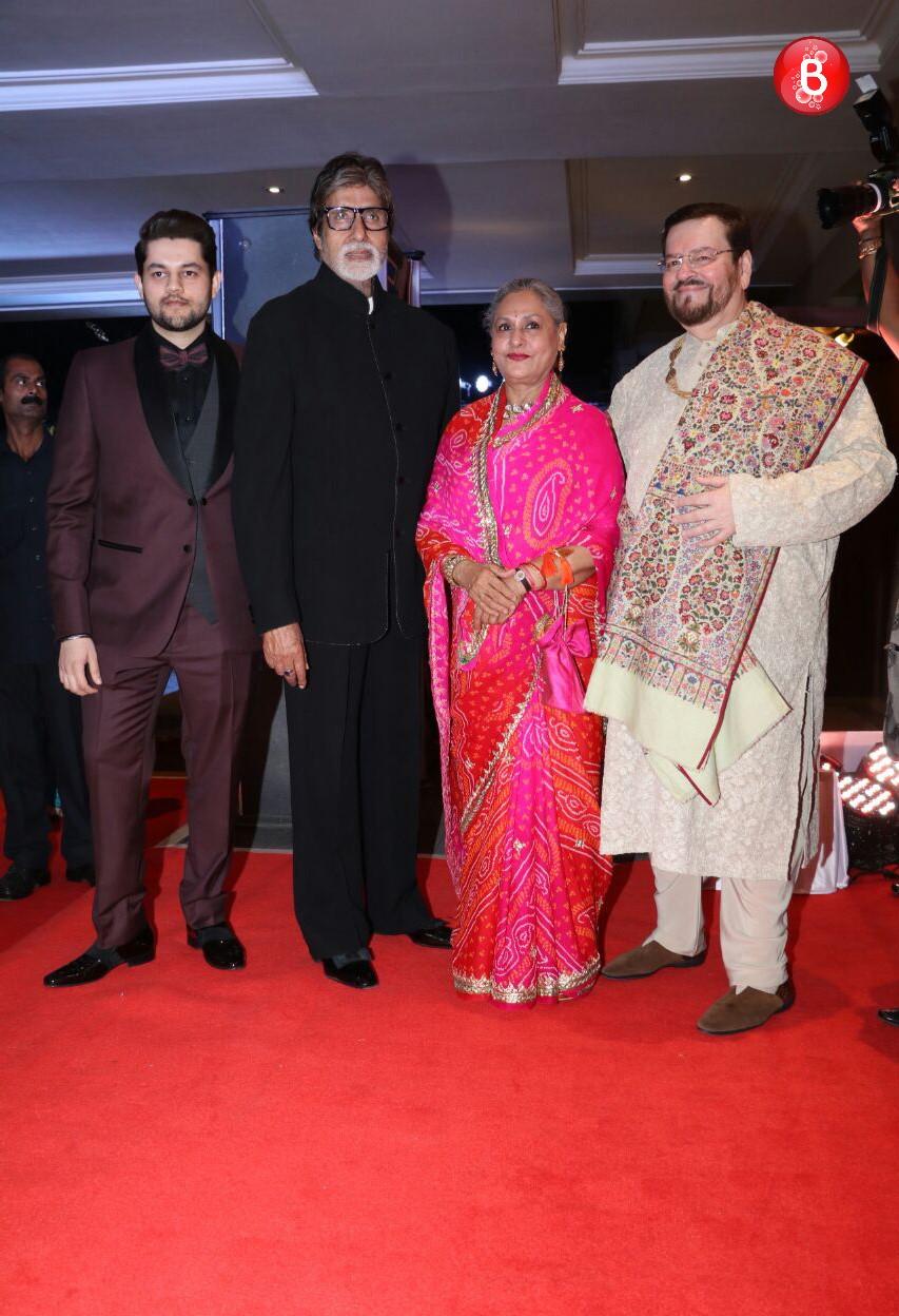 Amitabh Bachchan and Jaya Bachchan with Nitin Mukesh