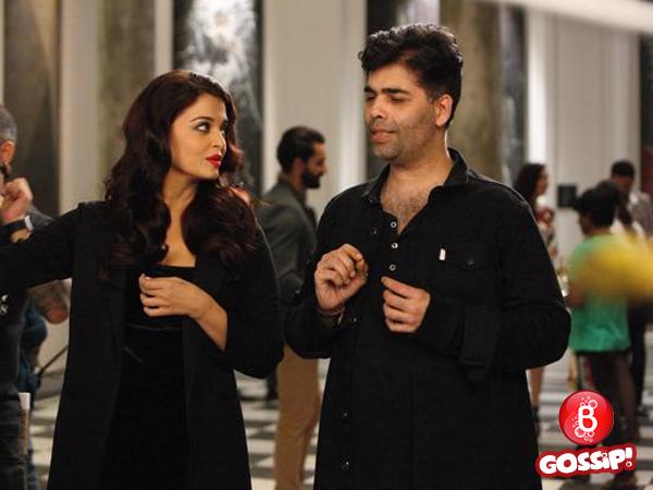 Aishwarya Rai and Karan Johar