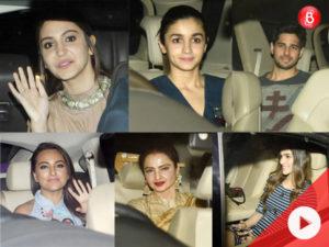WATCH: Sidharth Malhotra, Alia Bhatt, Sonakshi Sinha and other celebs at 'Phillauri' screening