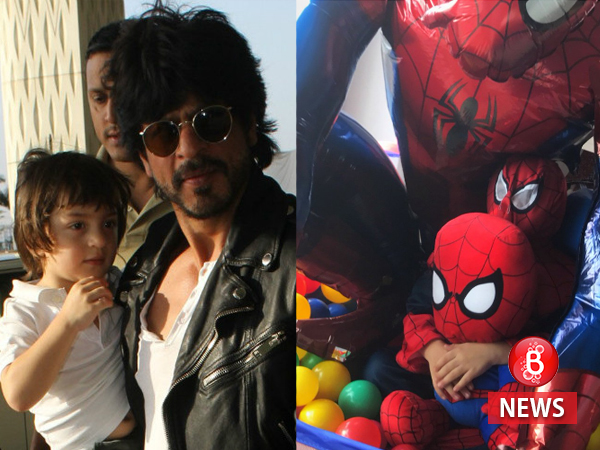A 'Spidey boom' at home, specially for Shah Rukh Khan and AbRam