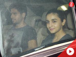 Sidharth Malhotra and Alia Bhatt yet again spottedtogether attending 'Phillauri' screening