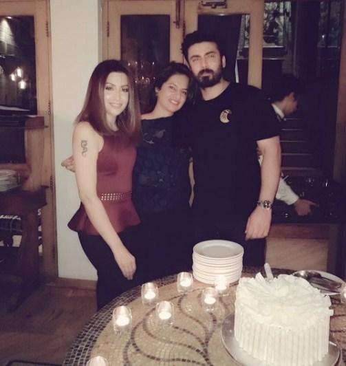 Fawad Khan, Sadaf Khan and Fatima Khan