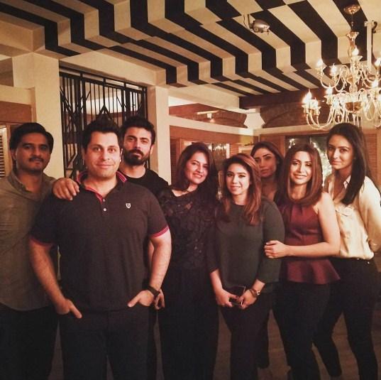 Fawad Khan, Sadaf Khan with friends