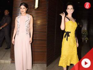 Watch: Priyanka Chopra parties with Kangana Ranaut, Madhuri Dixit, and other B-Town celebs