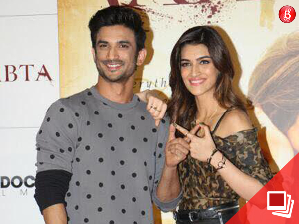 Sushant Singh Rajput and Kriti Sanon at 'Raabta' trailer launch event