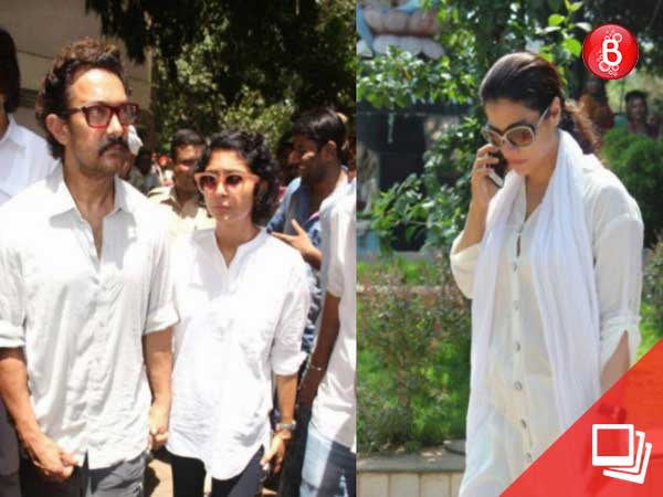 Aamir Khan, Kiran Rao, Kajol at Reema Lagoo funeral