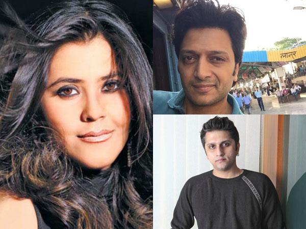 Ekta Kapoor, Riteish Deshmukh, Mohit Suri