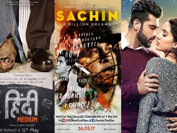 'Sachin: A Billion Dreams' has a good start, while 'Hindi Medium' and 'Half Girlfriend' are okay