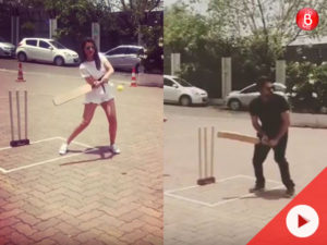 Watch: Parineeti Chopra and Ayushmann Khurrana show off their cricketing skills