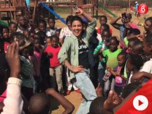 WATCH: Priyanka Chopra enjoys teaching desi thumkas to kids inZimbabwe