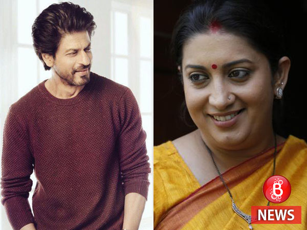 Shah Rukh Khan reveals that he named Smriti Irani's stepdaughter