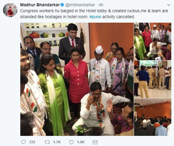 SHOCKING: Indu Sarkar Pune event cancelled after political workers create huge ruckus outside Madhur Bhandarkar's