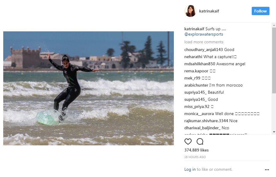 Katrina Kaif enjoys surfing in Morocco