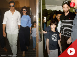 WATCH: Akshay Kumar and Hrithik Roshan spotted with family at PVR Juhu