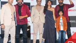 R Madhavan and Amit Sadh get clicked at the trailer launch of 'Breathe'. SEE PICS