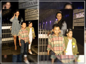 Watch: Maanayata Dutt and kids spotted at an eatery, post dinner