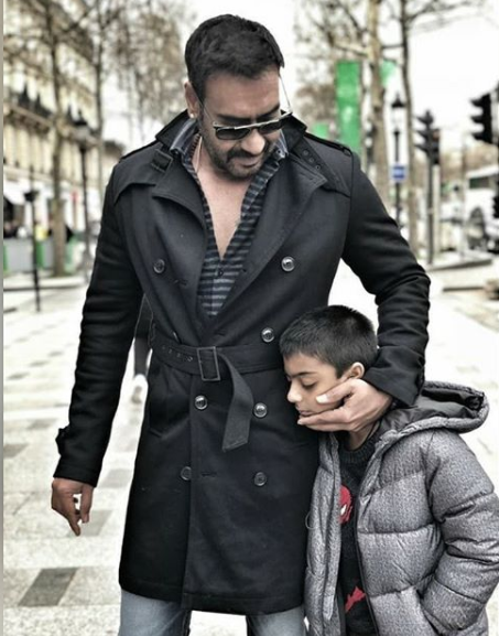 Ajay Devgn with his son Yug
