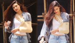 An injured Athiya Shetty gets clicked in the city. View Pics!