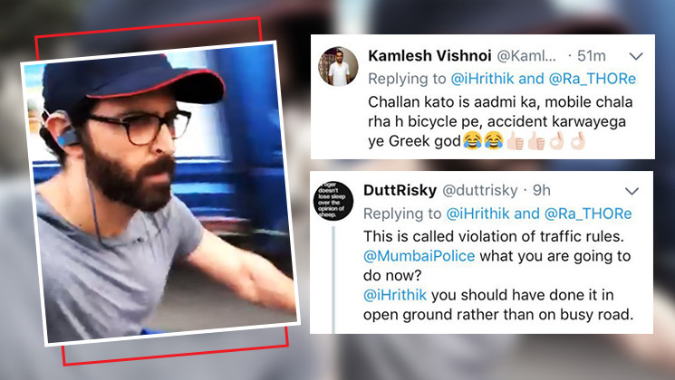 Hrithik Roshan gets TROLLED by Twitterati for violating traffic rules