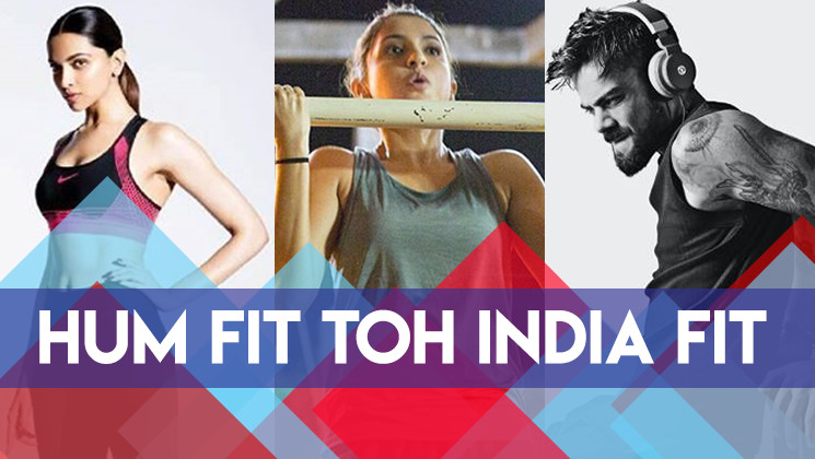 Watch: Anushka Sharma,Virat Kohli, Deepika Padukone take up #HumFitTohIndiaFit challenge