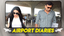Karisma Kapoor spotted with beau Sandeep Toshniwal at the airport