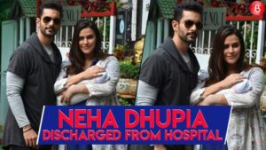 Watch: Neha Dhupia and Angad Bedi take their new born baby, Mehr home