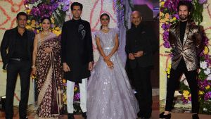 Sooraj Barjatya's son Devaansh's wedding reception: Salman Khan, Madhuri Dixit, Shahid Kapoor and other celebs make a stylish splash